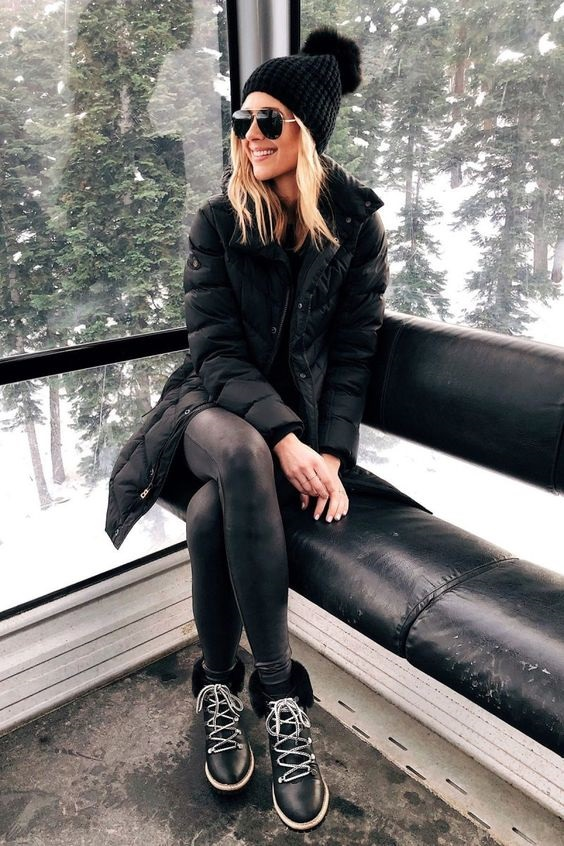 Vail Style…What to Wear and Where to Shop, leather leggings and coated jeans for Vail, leather leggings winter outfit