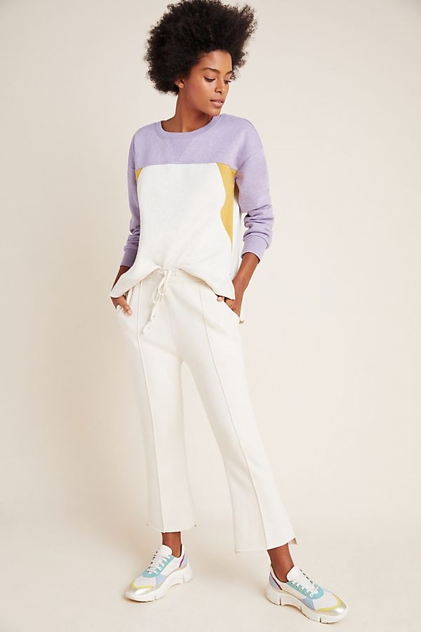 Sequester in Style What to Wear While Working From Home, women's loungewear, Saturday Sunday colorblock sweatshirt