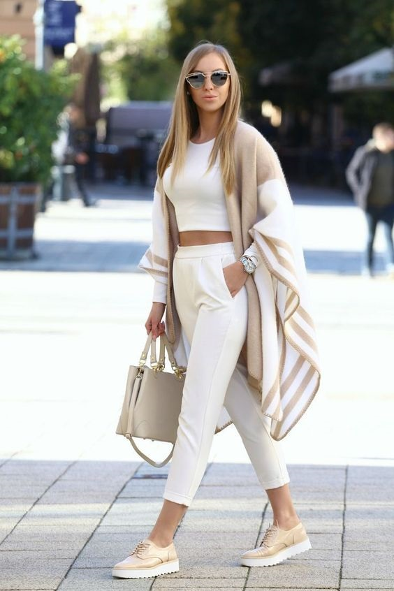 Spring Neutrals, beige and white outfit, spring outfit, Zara beige cardigan