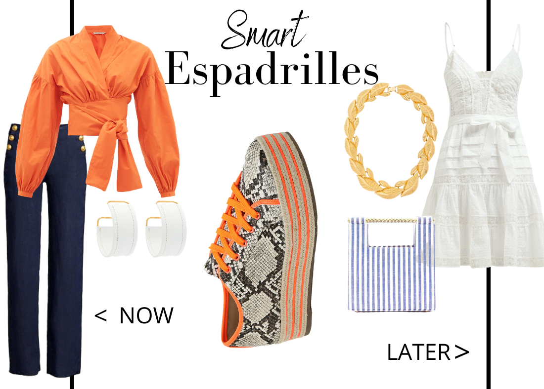 Key Closet Essentials to Wear Now Then Later Smart Espadrilles