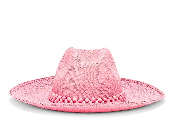 Summer Must-Have Accessories, straw hat, Artesano peoni beaded hat, pink beaded straw hat