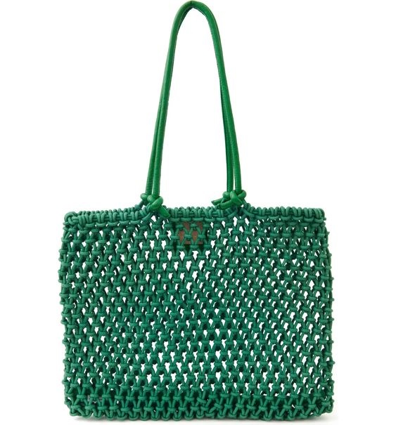 Summer Must-Have Accessories, woven bag, Clare V. Sandy Woven Market green Tote