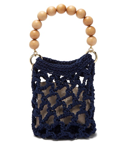 Summer Must Have Accessories, woven bag, ROSANTICA bead handle woven bag