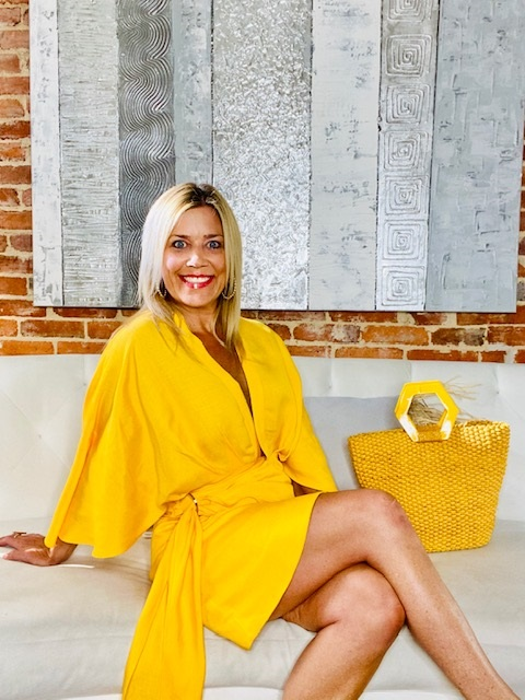 Stylish and Sunny Looks for Labor Day Weekend, Kelley Kirchberg, Divine Style personal stylist, yellow dress
